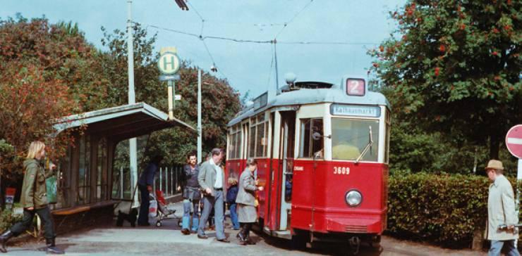 Die Straßenbahn Linie 2